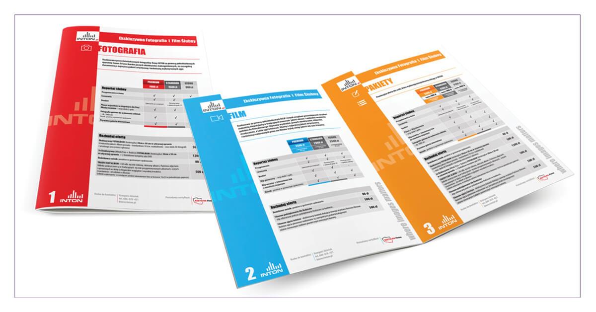 Projekt folderu ofertowego A4 - Inton