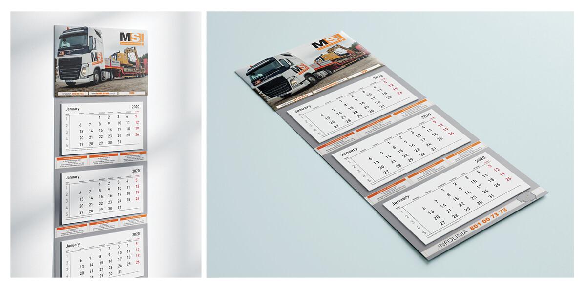 Projekt kalendarza trójdzielnego - Mobile Serwis