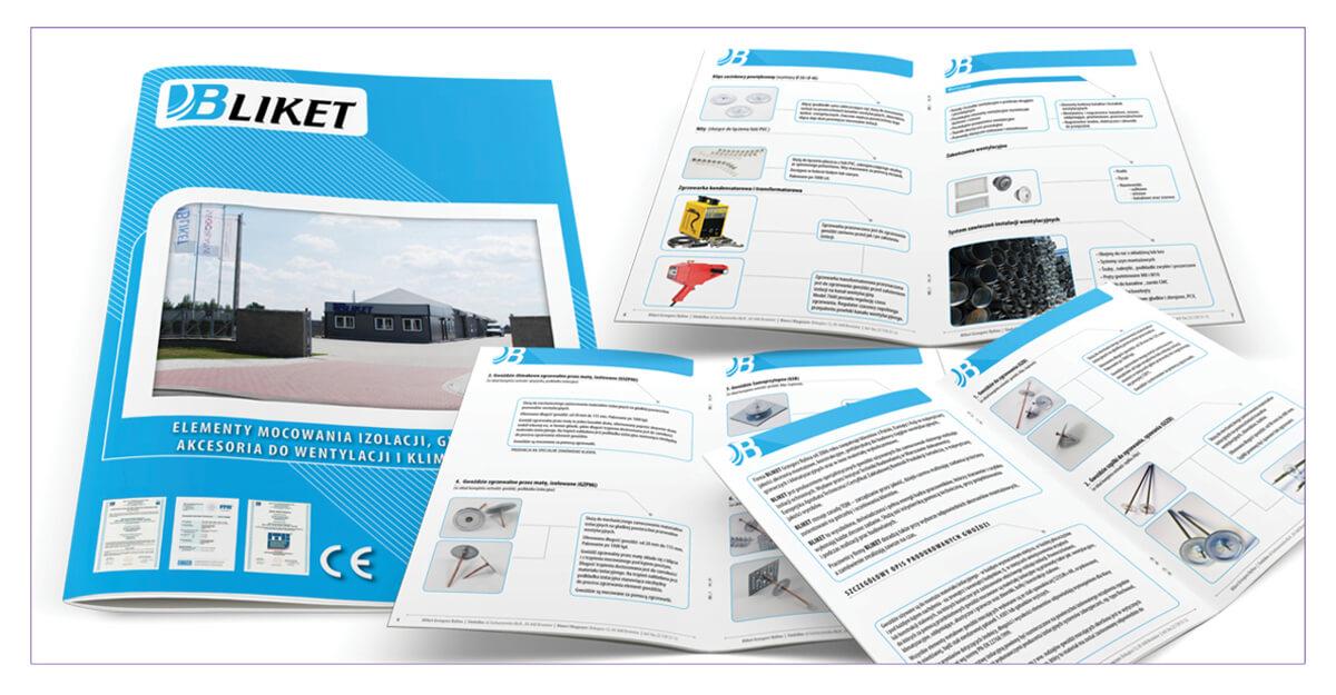 Projekt katalogu produktowego A4 - Bliket