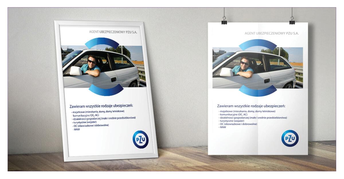 Projekt plakatu B2 - PZU